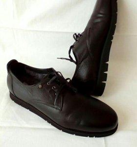 Мужские туфли ботинки зимние Италия