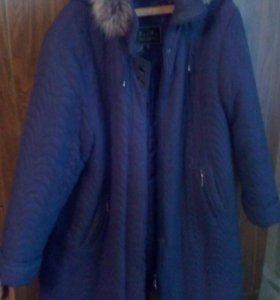Пуховики и куртка женские.