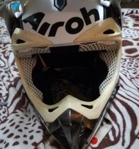 Кроссовый шлем Airoh с очками размер м
