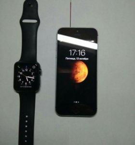 iPhone 5s + Apple watch 1