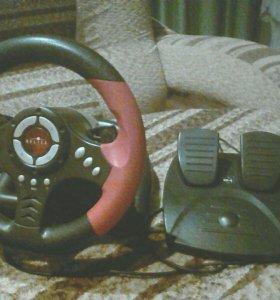 Игровой руль и педали Oklick