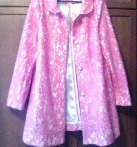 Пальто летнее кружевное новое