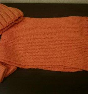 Комплект: шапка, шарф, перчатки.