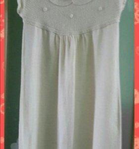 Вязаное платье - туника, 42-44 р