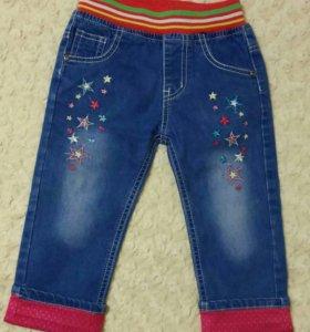 86 - 92 - 98 Джинсы с вышивкой