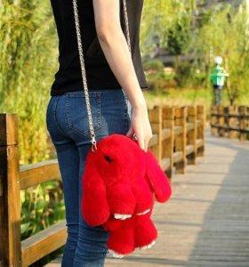 Очень красивый кролик-рюкзак-сумка(цвета разные)