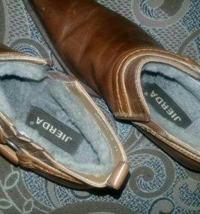 Ботинки натуральная кожа и мех