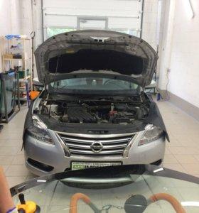 Лобовое стекло Nissan Sentra 2014 Замена