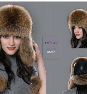 Женская шапка-ушанка.