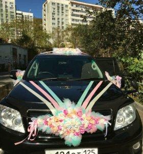 Свадебные украшения на машину +