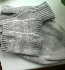 Шапка и перчатки зимние