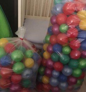 Надувной бассейн + шарики