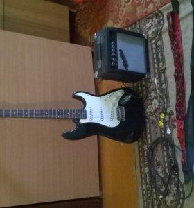 Электрогитара Fender Stratocaster+полный комплект