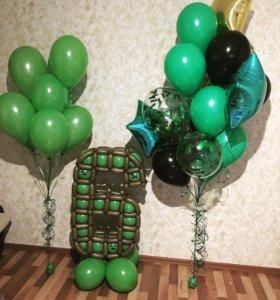 Гелиевые шары, цифры,цветы,Фигуры из шаров