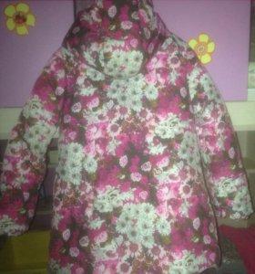 Зимняя куртка для девочки 116см