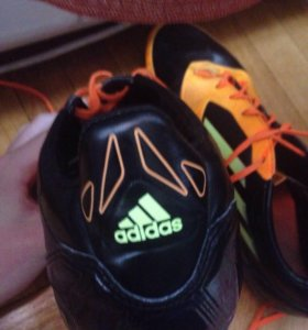 Бутсы Adidas F50 sprint web оранжевые