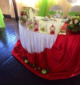 Яблочная свадьба, оформитель, свадебное оформление