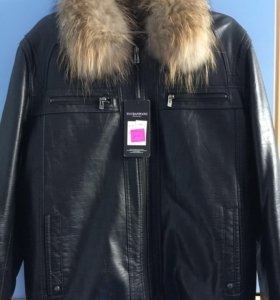 Кожанная мужская куртка