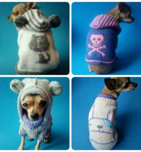 Вязаные свитера для собак и кошек