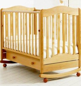 кроватки детские с матрасом ибортиками