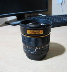 SAMYANG MF 85 f/1.4 для Canon (chip)