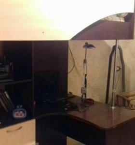 Детский уголок+шкаф для одежды+спальное место