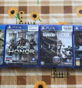 Продам игры PS4: Fifa 17for honor, осада, the crew