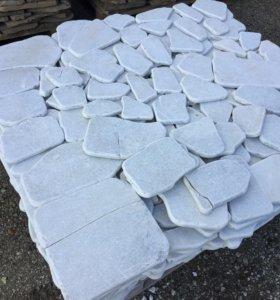 Облицовочный белый мрамор