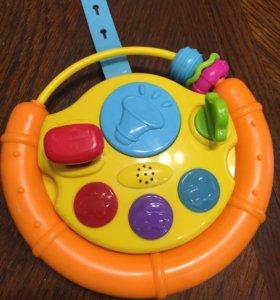 Игрушка на коляску руль музыкальный