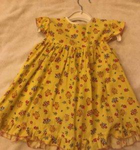 4 Платья 86 размер