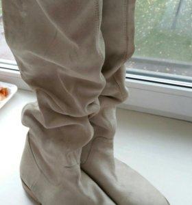 Замшевые сапожки 40 размер