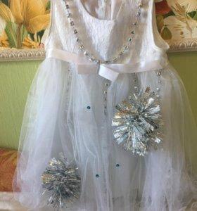 Платье «Снежинка». Новогодний костюм.