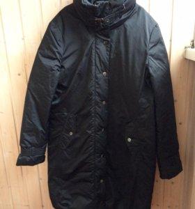 Новое пуховое пальто Zara теплое