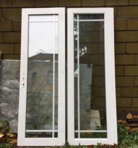 Металлопластиковые двойные двери REHAU