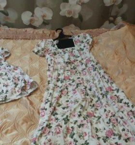 Платье мама /дочь летнее