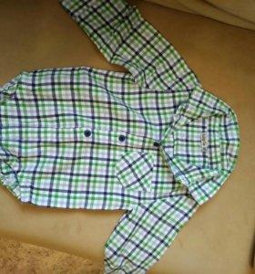 Фланелевая рубашка-боди