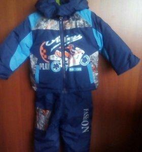 Детский костюм на осень- весну. 86-92