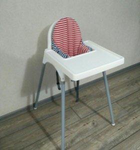 Детский стульчик Ikea + поддерживающая подушка