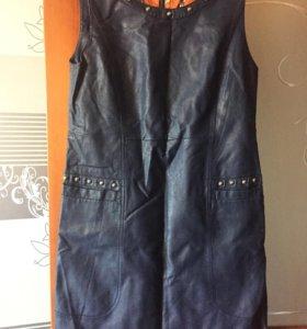 кожаное платье и куртка