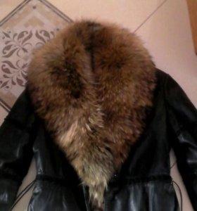 Куртка кожаная( натуральная) утепленная