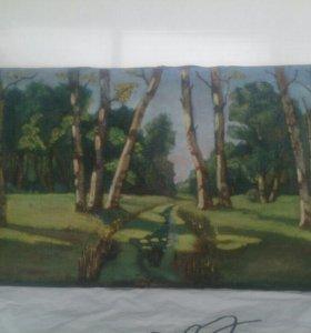 Картина Берёзки Антиквариат