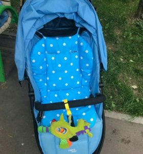 Матрас на стульчик для кормления,коляску голубой