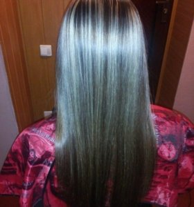 Мелирование 600 р и полировка 300 волос