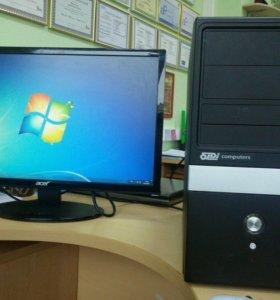 Компьютер для дома и офиса с монитором 23 дюйма