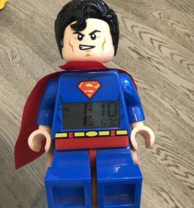 Коллекционная статуэтка Superman будильник часы