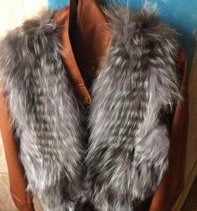 Куртка и меховая жилетка