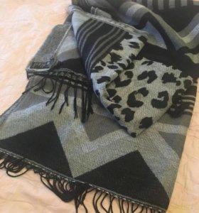 Объёмный женский шарф h&m