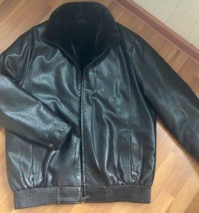 Мужская куртка экокожа 54-56 р
