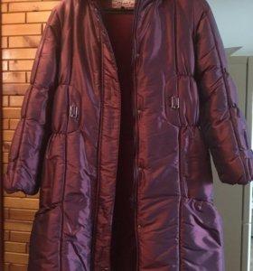 Пальто зимнее на 13-14 лет
