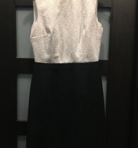 Платье черно-бежевое